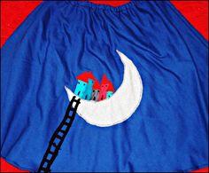 χειροποίητη φούστα 'σκάλα στο φεγγάρι'