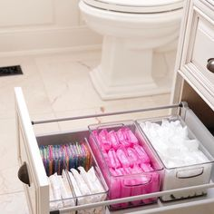 Bathroom organisation - Love a good secret stash 💗 home bathroom storage BathroomStorage Bathroom Organisation, Storage Organization, Organized Bathroom, Bathroom Ideas, Bathroom Interior, Bathroom Shelves, Girl Bathroom Decor, Storage Design, Organization Ideas For Bedrooms