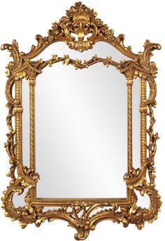 "Levallois-Perret Baroque Mirror 34""x49""x3"""