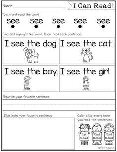 I Can Read! {sight word intervention}   Miss Kindergarten   Bloglovin