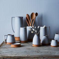 Handthrown Dipped Ceramic Vase / #props