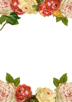 FREE printable vintage rose stationery  | MeinLilaPark