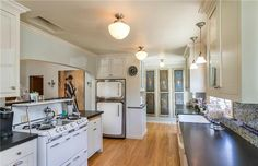 A retro-styled Heartland Refrigerator in this $1 million Tudor home for sale