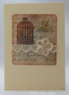 Handmade Card - Love Birds No. 2 £2.50