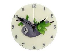unique wall clock hand-painted glass wall clock by JuditStyle
