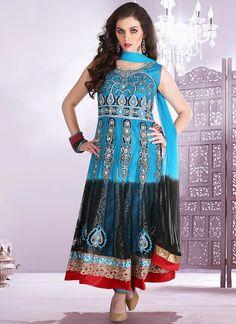 Trendy Net Ankle Length Anarkali Suit