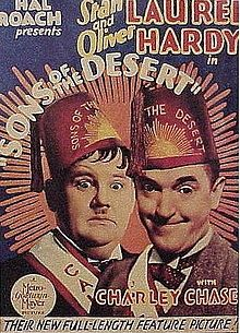 (1933) ~ Stan Laurel, Oliver Hardy, Charley Chase. Director: William A. Seiter. IMDB: 7.8 _______________________ http://en.wikipedia.org/wiki/Sons_of_the_Desert _______________________ http://www.rottentomatoes.com/m/sons_of_the_desert/ _______________________ http://www.tcm.com/tcmdb/title/614592/Sons-of-the-Desert/ _______________________ http://www.allmovie.com/movie/sons-of-the-desert-v45690