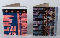 Pair of One of a Kind, Hand Printed LETTERPRESS JOURNAL SKETCHBOOKS