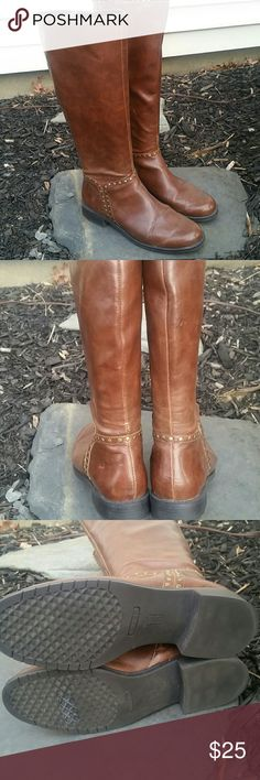 Aerosoles womens boots Excellent condition only worn a few times., double zippers for snug fit and room to tuck skinny jeans in. Rich chestnut brown. Flexible soles for all day comfort. AEROSOLES Shoes Over the Knee Boots