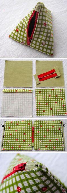Pyramid Bag Sew Tutorial   http://www.free-tutorial.net/2016/12/pyramid-bag-tutorial.html
