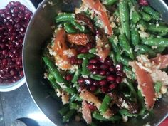 Green Bean and tomato salad w coconut+Peanut+Lime Dressing