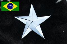 Origami: Estrela de 5 pontas - Tutorial com voz em português PT BR                                                                                                                                                                                 Mais