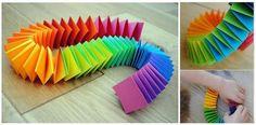 Ghirlanda arcobaleno fai da te - Realizzare una coloratissima ghirlanda a fisarmonica fai da te