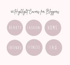 Instagram Highlight Covers for Bloggers Pink White   Etsy Text Icons, Handwriting Styles, Custom Icons, Handwritten Fonts, Gift Quotes, Instagram Highlight Icons, Graphic Design Branding, Minimal Fashion, Instagram Story