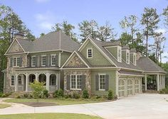 Architectural Designs House Plan 70009CW Just under 4,900 sq.ft. of living space 4 beds with master down 4.5 baths