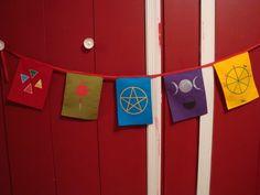 Pagan Prayer Flags :) LOVE THESE