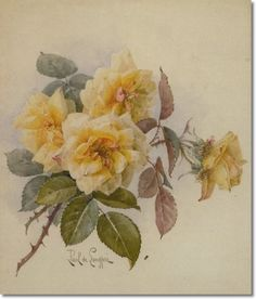 Paul De Longpre - Cut Yellow Roses
