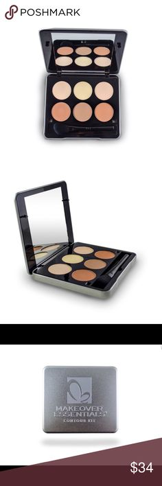 Contour palette kit w/ brush mirrored compact case REASONABLE OFFERS THROUGH OFFER FEATURE. NO TRADES. Dive into this contour kit & begin your journey creating illusions of higher cheekbones, a slimmer nose, softer jawline, or a smaller forehead. This kit has everything you need to bronze and highlight, including 6 contour colors, applicator, and tin case w/ mirror. Colors/styles may vary from stock photo. Listing is for contour kit only. Paraben free. NOT tested on animals. Total net wt…