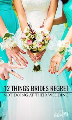 Wedding days are filled with many do's and don'ts but there are a few things that ‪#‎brides‬ often regret not doing at their ‪#‎wedding‬