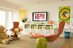 clean, bright playroom