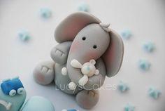 Elephant birthday or christening cake topper | Please click … | Flickr