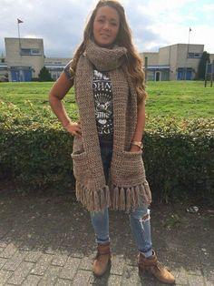 Sjaal met zakken