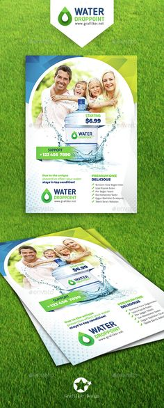 Drinking Water Service Flyer Templates
