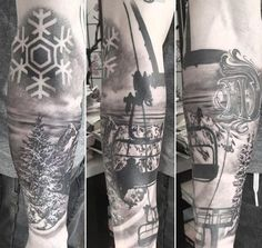 90 Snowboard Tattoo Designs For Men - Idées d'encre cool Winter Tattoo, Snow Tattoo, Snow Flake Tattoo, Skiing Tattoo, Snowboarding Tattoo, Dream Tattoos, Girl Tattoos, Tattoos For Guys, Calf Tattoo