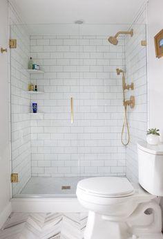 Choose an unusual accent color. #BathroomTileideasfloorsmall