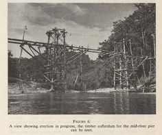 Construction of a bridge for the filming of 'The Bridge on the River Kwai' from a paper of the same title by K H Best, in the Journal of the Society of Engineers, 1958.