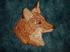 Red Fox Intarsia by dreamwvr81 on Etsy, $30.00