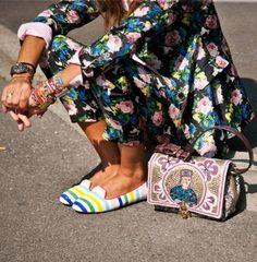floralsuit Street style details from the spring/summer 2014 shows