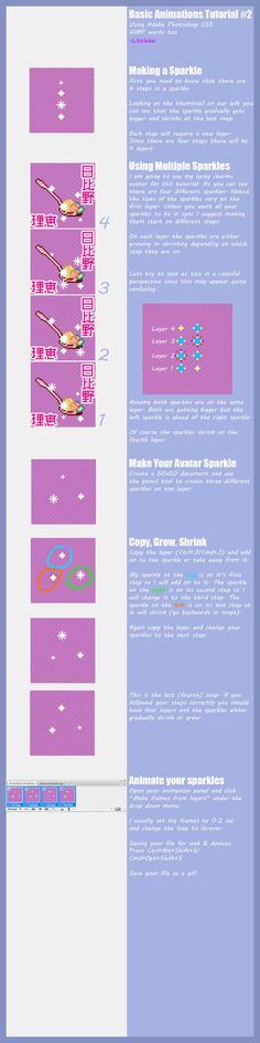 Pixel Art-Sparkle Tutorial by LittleKai.deviantart.com on @deviantART ✤…