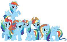 My Little Rainbow Dash by Shadowhedgiefan91
