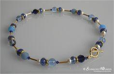 Ketten kurz - Kette Polaris Turmalin Gold Perlen - ein Designerstück von Schmuckes-Wunder bei DaWanda