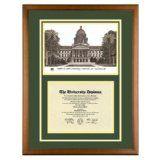 California State University Sacramento Diploma Frame with Sac State Art PrintBy Old School Diploma Frame Co.