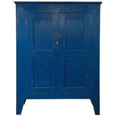 Blue Cupboard - Ulster County, New York | From a unique collection of antique and modern cupboards at http://www.1stdibs.com/furniture/storage-case-pieces/cupboards/