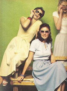 Maxi skirts. These floor length and loose fitted skirts were popular in 1970s to wear out during the day. They either came in solids or in fun and bold patterns.