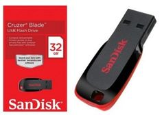 SanDisk Cruzer Blade USB Flash Drive 32GB at Lowest Price at Rs 414 Only