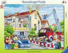 Die Feuerwehr rückt aus Puzzles;Kinderpuzzle Ravensburger