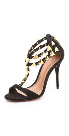 Schutz Iris Shark Tooth Suede Sandals | SHOPBOP