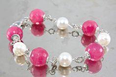 Monte Nero Imports - Lo Scrigno di Melo Pink Onyx & Pearl Bracelet