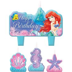 1 X The Little Mermaid Birthday Candle Set by Amscan >>> Click on the image for additional details.