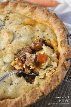Savory Beef Pot Pie is pure comfort food at it's finest. Just like grandma use to make. Fall has definitely arrived here in the Pacific NW. The cooler, rainy days are here and I'm ready for some good old fashioned comfort food. Grandmothers have been making pot pies for generations and nothing represents comfort food …