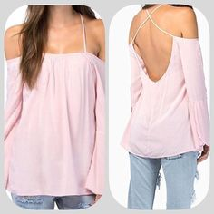 "HP 20% OFF! NWT Blush Off Shoulder Tunic Top HP 7/10/16! ""Girly Girl Party""! This is a really fun top! Super cute and sexy at the same time! Nice for a warm summer night! The actual color is the second pic! Armpit to armpit 20 inches! Length 27 inches! Chosen by @aespamer please check out her amazing closet!  Boutique Tops Tunics"