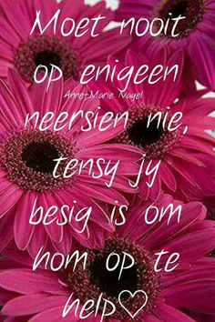 Great Quotes, Quotes To Live By, Inspirational Qoutes, Afrikaans Quotes, Like You, Amen, Bible Verses, Blue And White, Wisdom