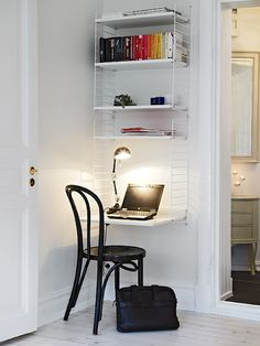 Great idea for desk in a small space