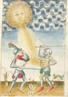 Bellifortis VerfasserKyeser, Conradus  ErschienenElsaß, [um 1460] Ms. germ. qu. 15  Folio 50r