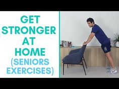 Today we are going to do a strength workout, working the whole body without any equipment. Great exercises to get you stronger Make sure you do the warm-up b. Walking Exercise Video, Senior Fitness, Senior Workout, Balance Exercises, Chair Exercises, Sr 25, Arthritis Exercises, Meditation Videos, Chakra Meditation