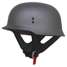 AFX FX-88 German Style Motorcycle Helmet Grey